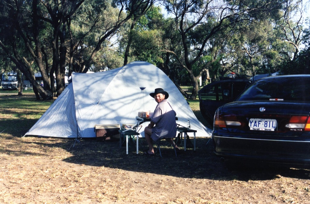 Camping in Hay