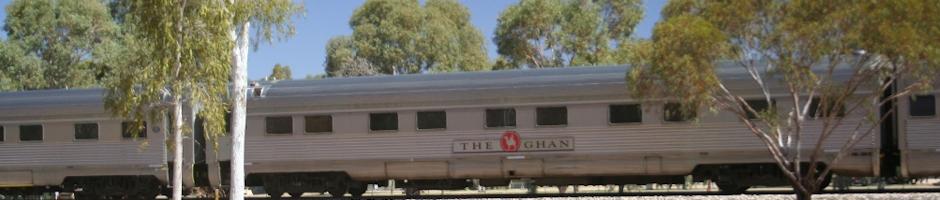 The modern Ghan train