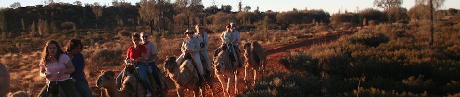 Camel Ride at Sunset Uluru