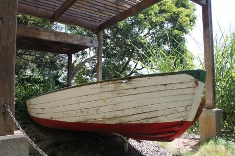 Chiang Kai-shek's wooden row boat