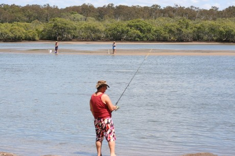 Fishing the sand banks