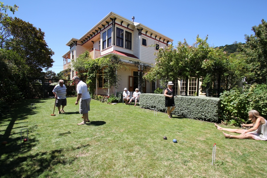 A pleasant afternoon playing croquet on the Lawns